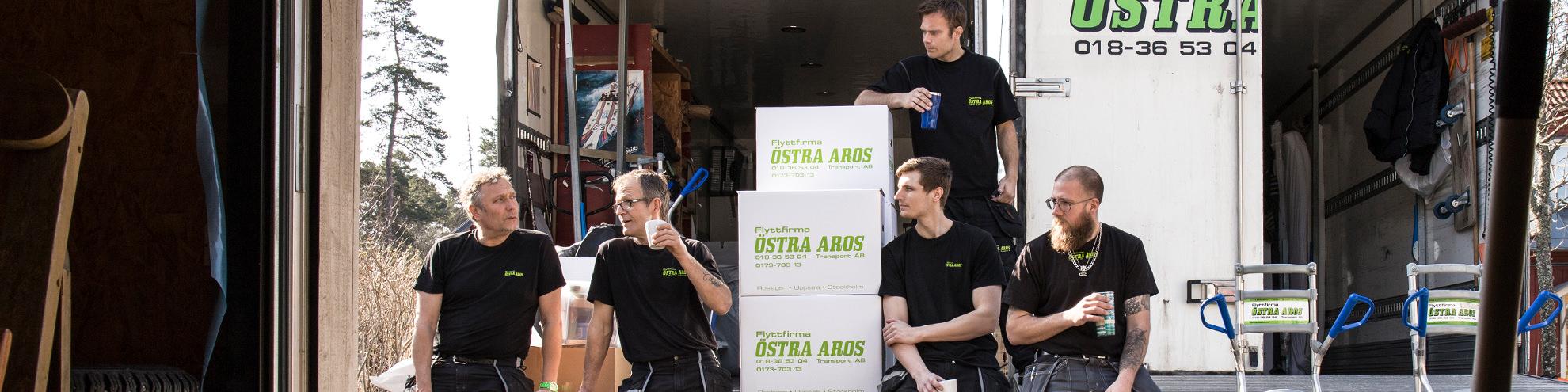 Flyttfirma Östra Aros tar kafferast